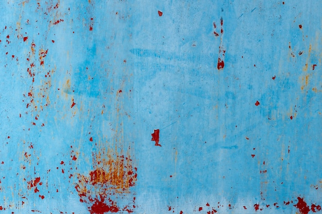 青いほこりと傷ついたテクスチャ背景と空間。