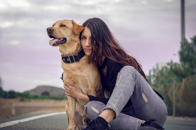 Собака со своим хозяином
