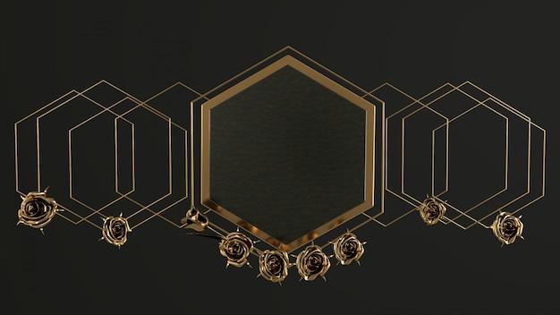 抽象的な豪華な幾何学的な背景