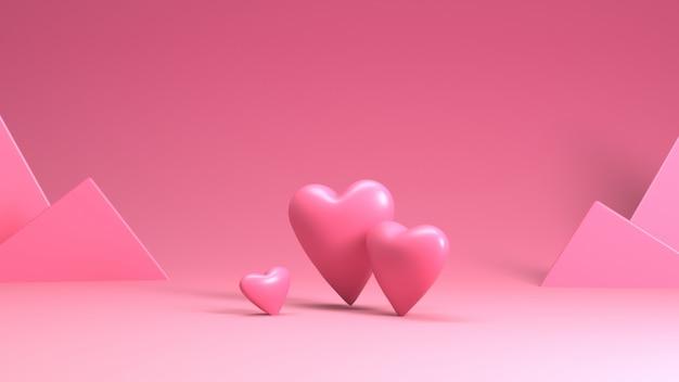 Рендеринг сердца в день святого валентина