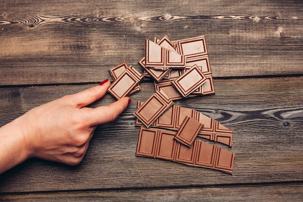 チョコレートバーの壁