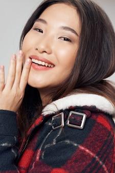アジアの女性の肖像画のクローズアップ