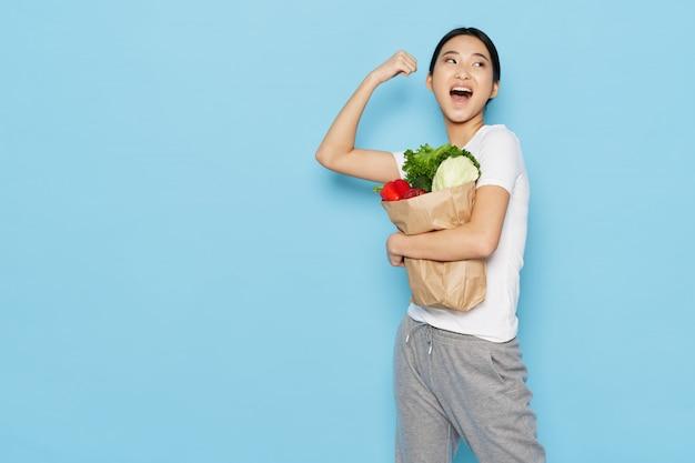 健康食品とアジアの女性