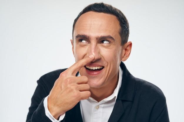男の感情の顔の肖像画