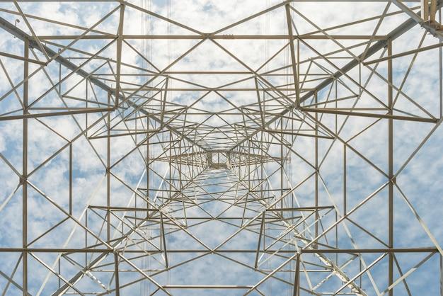 高電圧電気の塔
