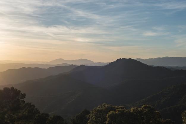 Закат горы малага