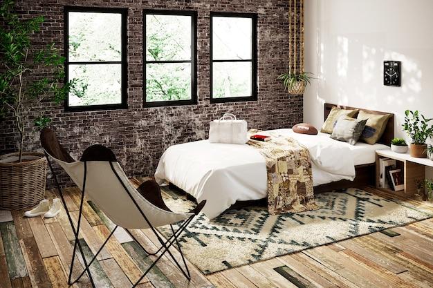 ファッションの寝室のインテリア