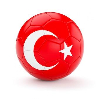 Футбольный мяч с флагом турции