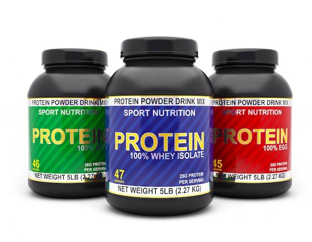 分離されたタンパク質瓶