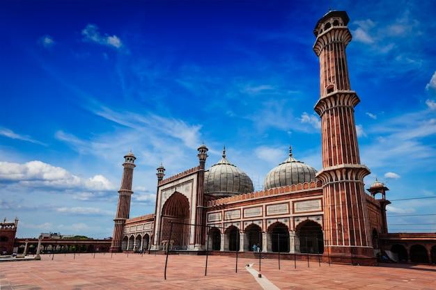 インドのジャーマーマスジッドイスラム教のモスク。インド、デリー