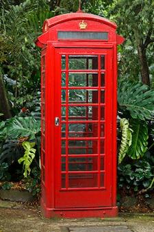 赤い英語の電話ボックス