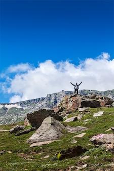 山で幸せな観光