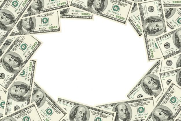 ドルで作られたフレーム