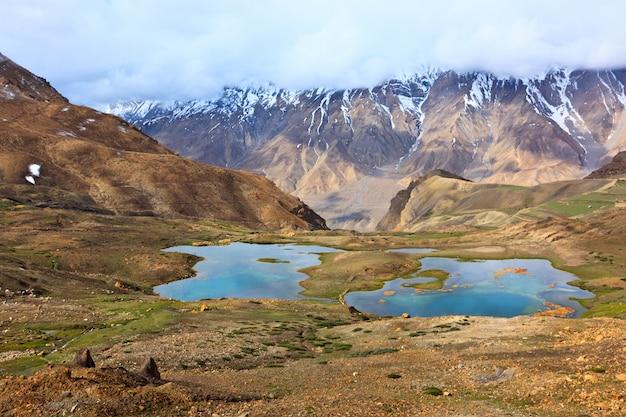 Горные озера в гималаях