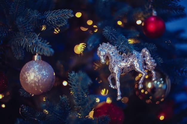 多重またはぼやけたクリスマスライト