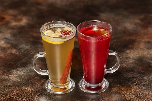Компот с лимонно-коричным и ягодным соком
