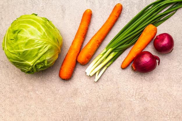 Ассорти из свежих органических овощей