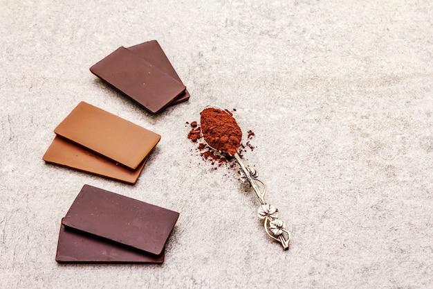 ココア含有量の異なるチョコレートの詰め合わせ