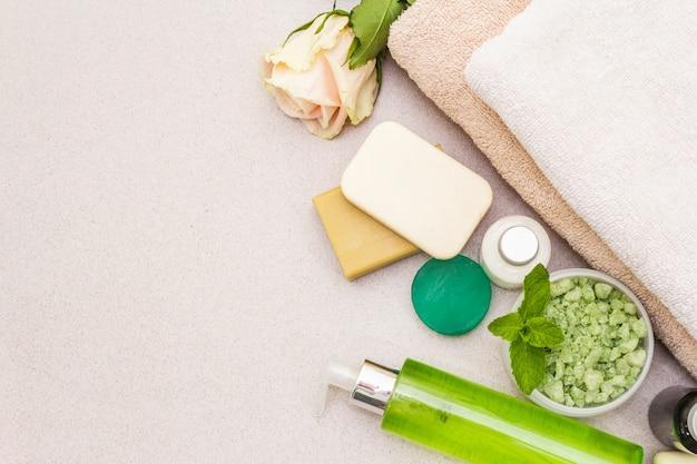 健康と美容スパ花のコンセプト