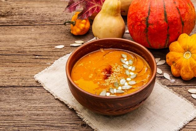 Осенний крем-суп из тыквы