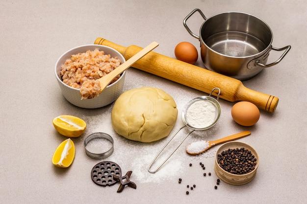 Ингредиенты для приготовления рыбных клецок