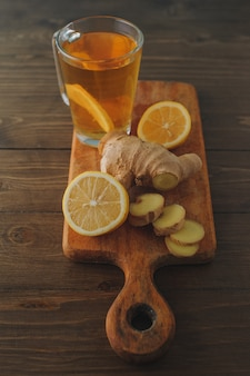 レモンとジンジャーのお茶