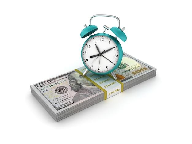 Оказание иллюстрации часы с долларовых купюр