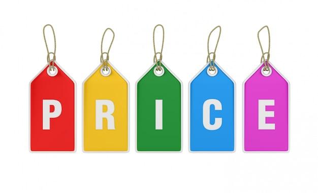 Рендеринг иллюстрация висячие покупки ценники