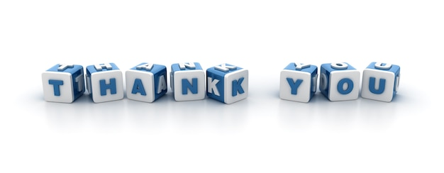 Плитка блоков со словом «спасибо»