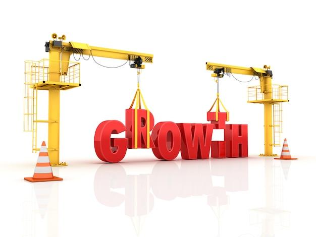 Краны строят слово рост