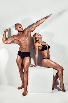 Красивая спортивная пара.