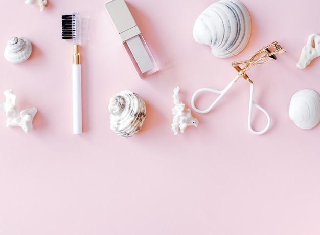 化粧品の背景。