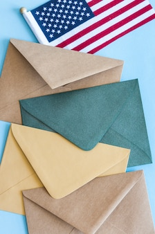 Флаг сша и конверты