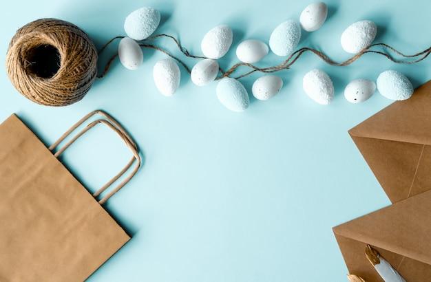 卵の花輪、クラフト紙、紙袋