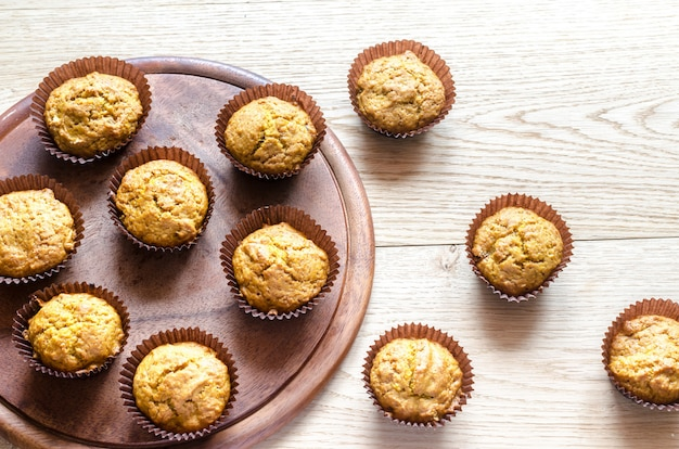 Цельнозерновые кексы из тыквы с изюмом