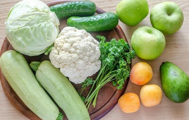 低刺激性の果物と野菜