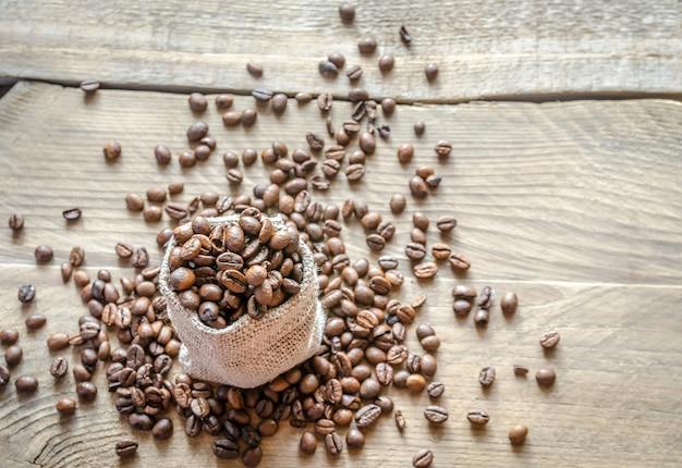荒布バッグのコーヒー豆