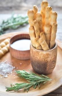 Розмари хлебные палочки с ингредиентами