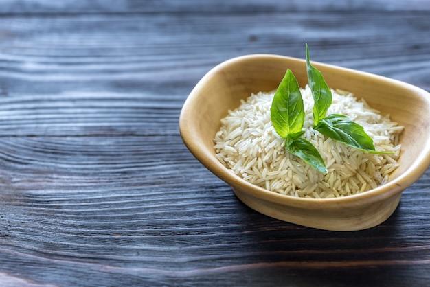 Чаша из сырого риса басмати