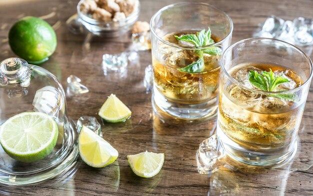 ラム酒のグラス