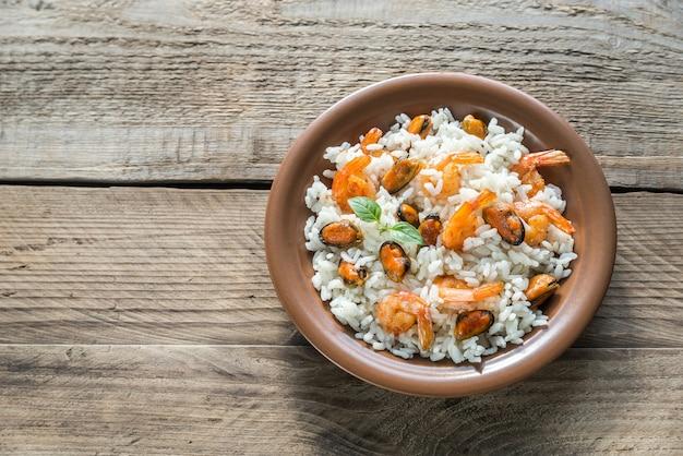 Карнароли рис с морепродуктами