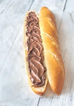 チョコレートクリームのバゲット