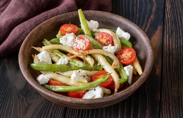 Салат из зеленой и желтой фасоли