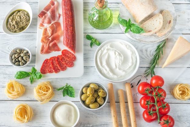 イタリア料理の品揃え
