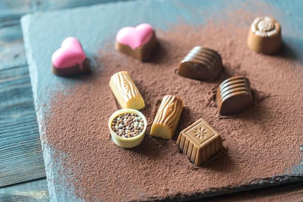 Шоколадные конфеты с какао