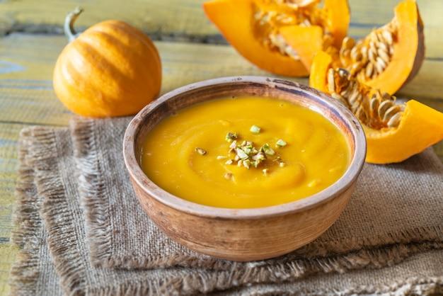 かぼちゃスープのボウル