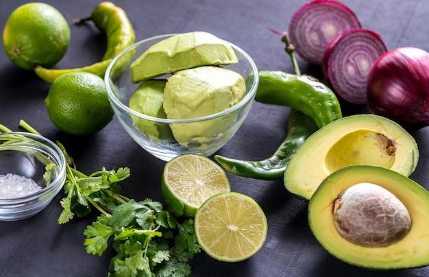 Ингредиенты гуакамоле