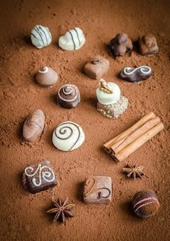 ココアの高級チョコレート菓子