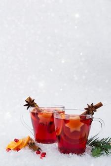 温めたグリュースパイス赤ワイン
