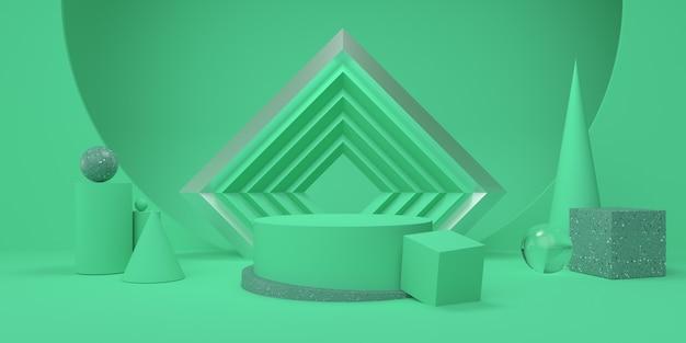 Подиум и геометрические фигуры